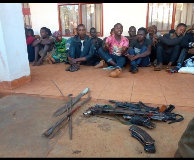 Butembo: Un réseau des  bandits opérant dans le Grand Nord présenté à la population par le maire