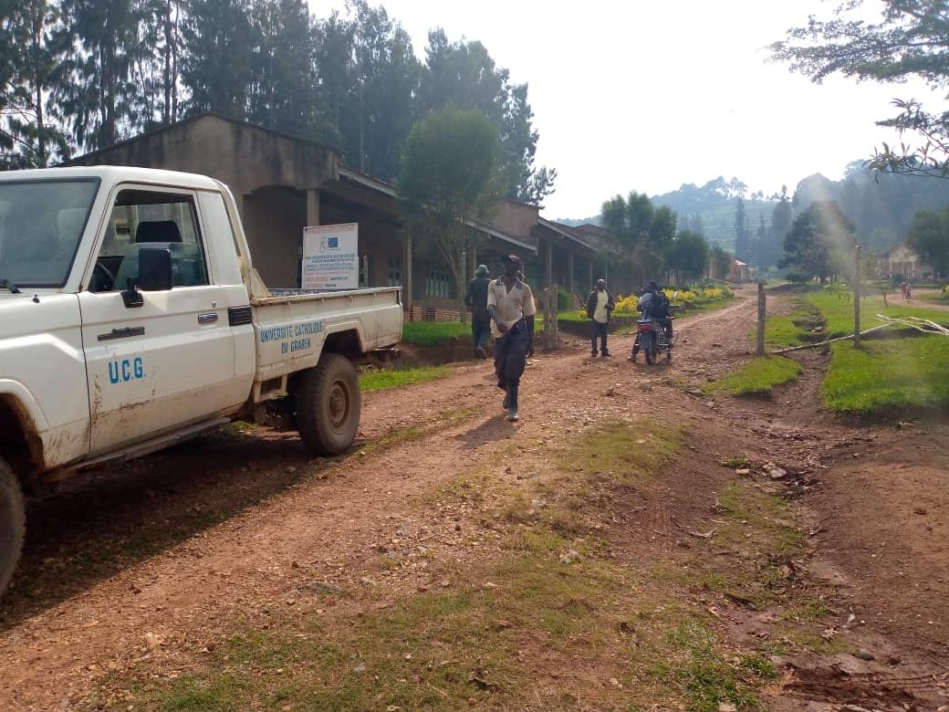 Butembo : Les étudiants de l'UCG projettent  l'assainissement du site universitaire Horizon ce jeudi ( Milonde, Pres. Conseil estudin.)