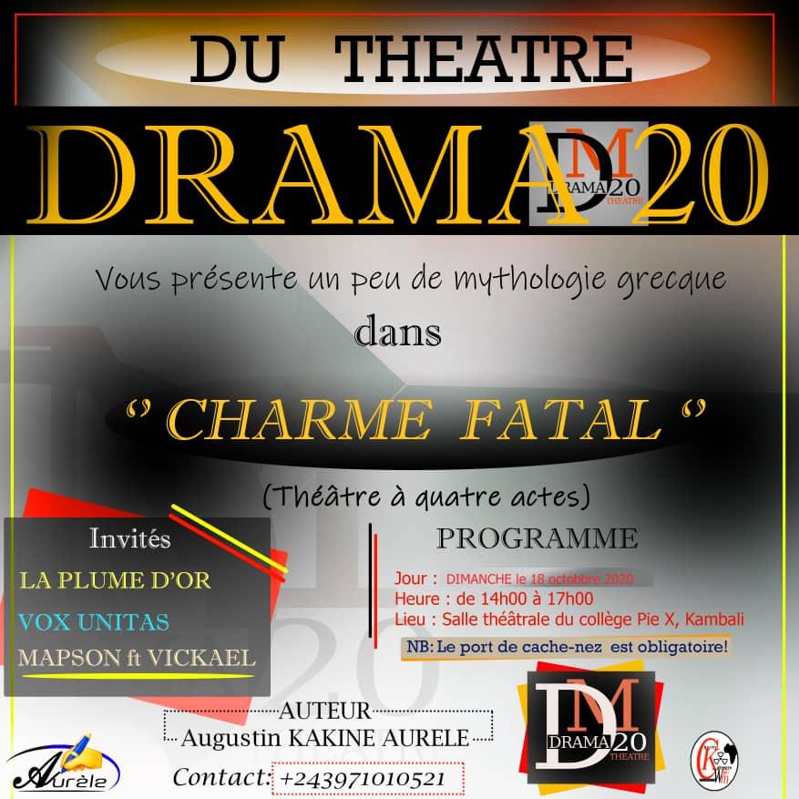 « Charme fatal», une présentation théâtrale pour ce dimanche 18 Octobre 2020