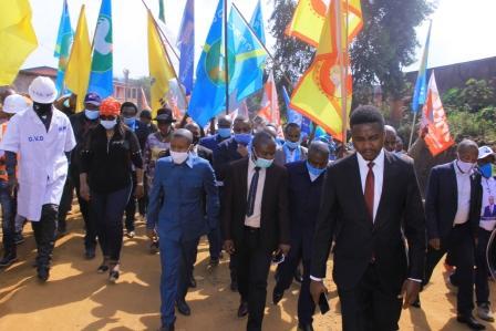 Butembo : aucun drapeau de l'UDPS  et du RCD-K-ML à l'accueil  du gouverneur du Nord-Kivu