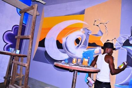 Butembo-art : Jordance Bin Luba, un artiste qui allie dessin, peinture et musique